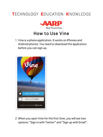 How to Use Vine - AARP