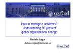 How to manage a university? Understanding 90 years of global