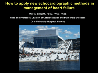 How to apply new echocardiographic methods in management of