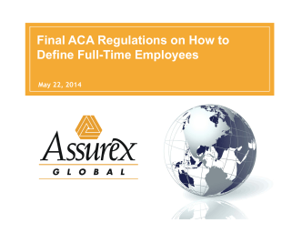 Final ACA Regulations on How to Define Full-Time Employees