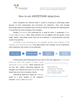 How to set ADVERTISING objectives