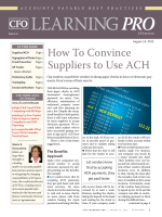 How To Convince Suppliers to Use ACH - CFO.com