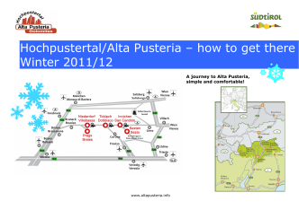 Hochpustertal/Alta Pusteria – how to get there Winter - Hotel Adler