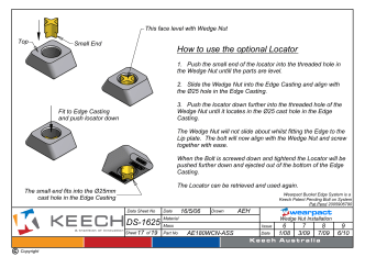 DS-1625 How to use the optional Locator - Keech