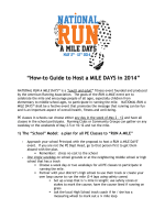 How-To Host a RUN A MILE DAYS Event - 2014 - National Run A