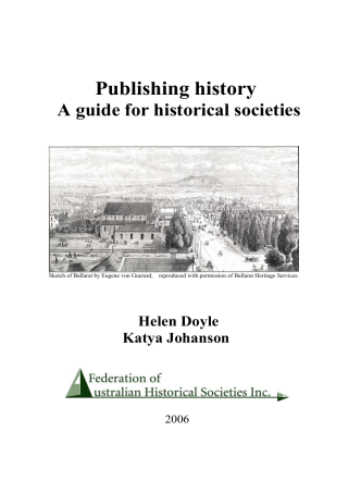 How to write a local history - Federation of Australian Historical
