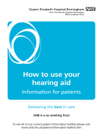How to use your hearing aid - University Hospitals Birmingham NHS