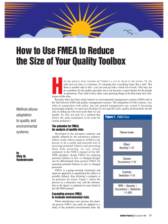 How to Use FMEA to Reduce the Size of Your Quality - QS Consult