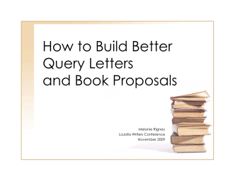 How to Build Better Query Letters and Book Proposals - Editor for You