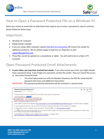 How to Open a Password Protected File on a Windows - Cpaperless