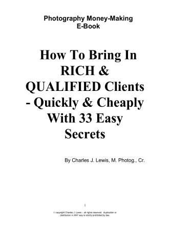 How To Bring In RICH  QUALIFIED Clients - Quickly  Cheaply
