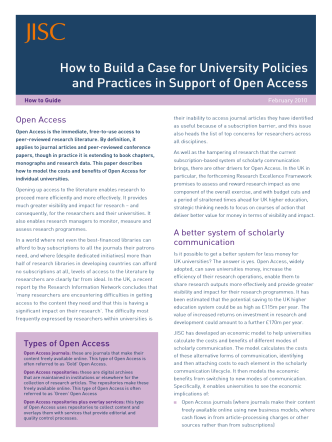 How to Build a Case for University Policies and Practices in - Jisc