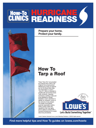 How To Tarp a Roof - Lowes