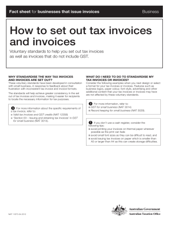 How to set out tax invoices and invoices - Amazon Web Services