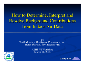 How to Determine, Interpret and Resolve Background - IAVI