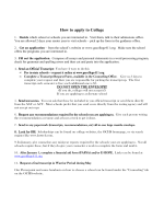 How to apply to College - Oconee County Schools