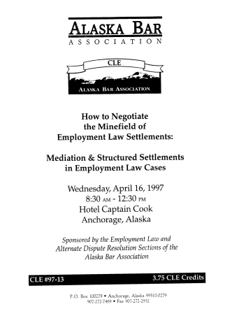 HOW TO NEGOTIATE WEDNESDAYAPRIL16 1997 HOTEL CAPTAIN