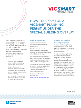 HOW TO APPLY FOR A VICSMART PLANNING PERMIT UNDER