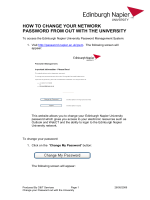 How to Change your Network Password from out with the University