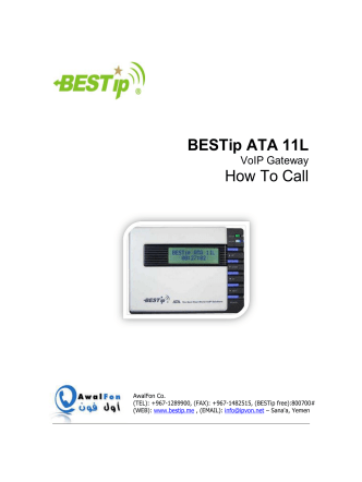 BESTip ATA 11L How To Call
