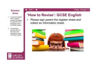 How To Revise - English GCSE.pptx - Chelsea Academy