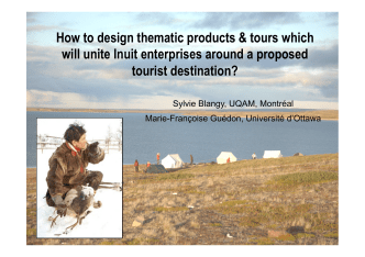 How to design thematic products  tours which will unite - UQAT.ca