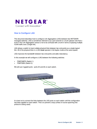 How to Configure LAG - Netgear
