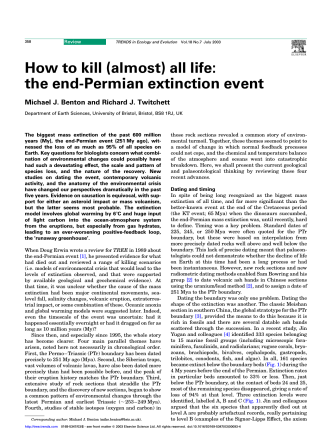 How to kill (almost) all life: the end-Permian extinction - UAntwerpen