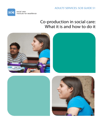 Co-production in social care: What it is and how to do it