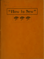 How to sew..