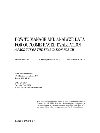how to manage and analyze data for outcome-based
