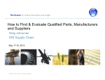 How to Find  Evaluate Qualified Parts, Manufacturers and - ERAI