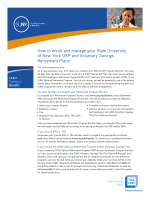 How to enroll and manage your State University of - TIAA-CREF
