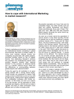How to cope with International Marketing in market - TNS Infratest