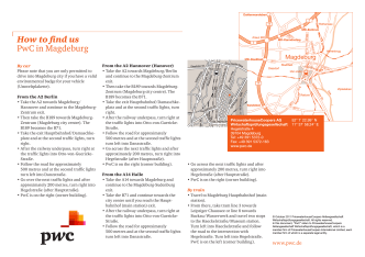 How to find us PwC in Magdeburg - PriceWaterhouseCoopers AG