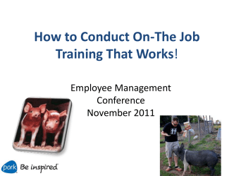 How to Conduct On-The Job Training That Works!