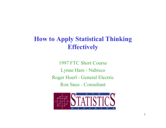 How to Apply Statistical Thinking Effectively - ASQ