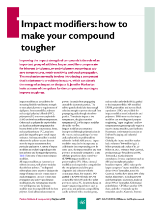 Impact modifiers: how to make your compound - Pharos Project