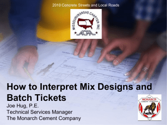 How to Interpret Mix Designs and Batch Tickets