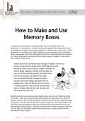How to Make and Use Memory Boxes