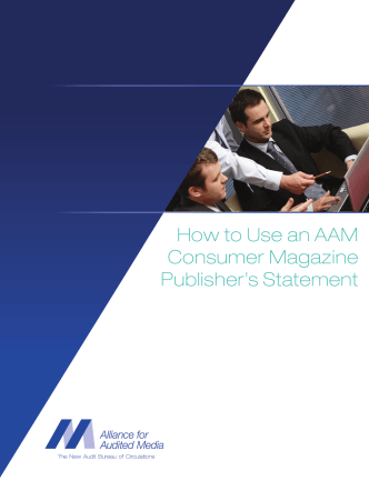 How to Use an AAM Consumer Magazine Publishers Statement