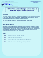 BTEC First Art and Design: how to make it work - Insetcourses.com