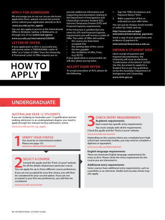 HOW TO APPLY - Australian Catholic University