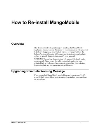 How to Re-install MangoMobile - ARS247