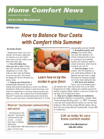 How to Balance Your Costs with Comfort this Summer - All In One