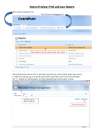 How to Preview, Print and Save Reports - CatchPoint Manager