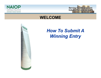 How To Submit A Winning Entry - NAIOP Northern Virginia