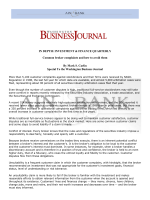 INVESTMENT  FINANCE QUARTERLY Common - Ain  Bank