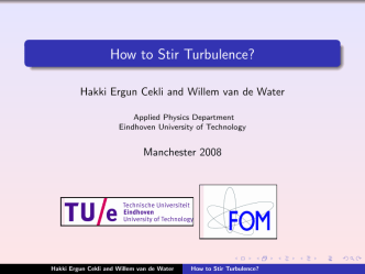 How to Stir Turbulence? - HECekli