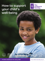 How to support your childs well-being - The Childrens Society